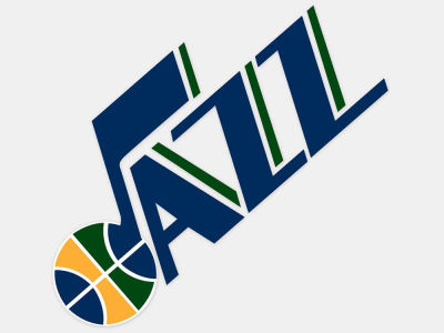 Utah Jazz 4x4 Die Cut Decal Color