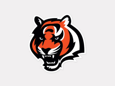 Cincinnati Bengals 4x4 Die Cut Decal Color