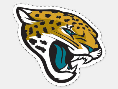 Jacksonville Jaguars 4x4 Die Cut Decal Color
