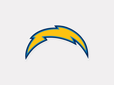 San Diego Chargers 4x4 Die Cut Decal Color