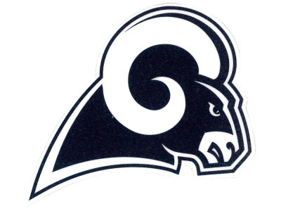 Los Angeles Rams 4x4 Die Cut Decal Color