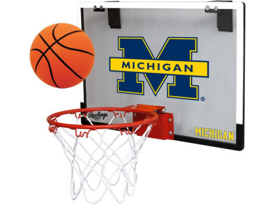 Michigan Wolverines Game On Polycarb Hoop Set