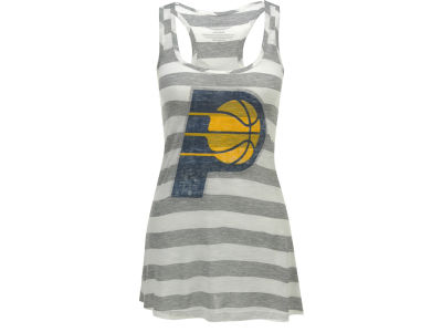Indiana Pacers NBA Womens Striped Racerback Tank