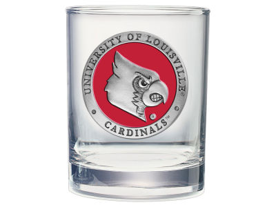 Louisville Cardinals Double Old Fashioned Glass