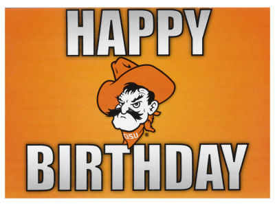 Oklahoma State Cowboys Birthday Card