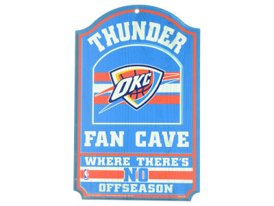 Oklahoma City Thunder 11x17 Wood Sign