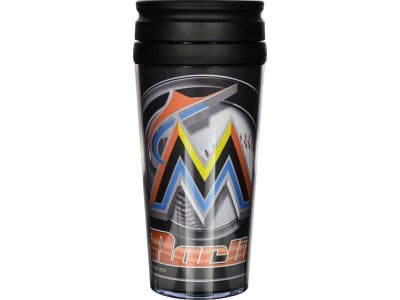 Miami Marlins 16oz Travel Tumbler
