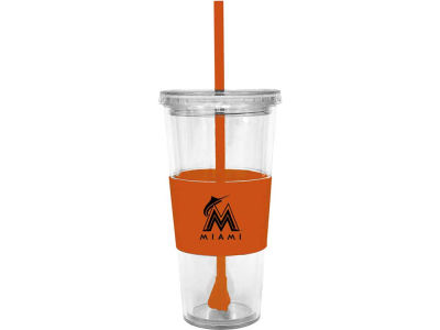 Miami Marlins 22oz. Tumbler with Straw