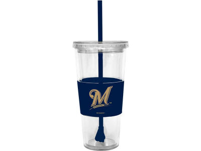 Milwaukee Brewers 22oz. Tumbler with Straw