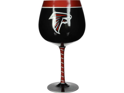 Atlanta Falcons Art Glass Wine Glass