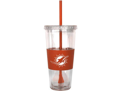 Miami Dolphins 22oz. Tumbler with Straw
