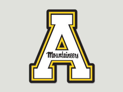 Appalachian State Mountaineers Die Cut Color Decal 8in X 8in