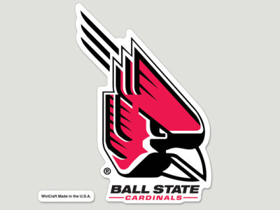 Ball State Cardinals Die Cut Color Decal 8in X 8in