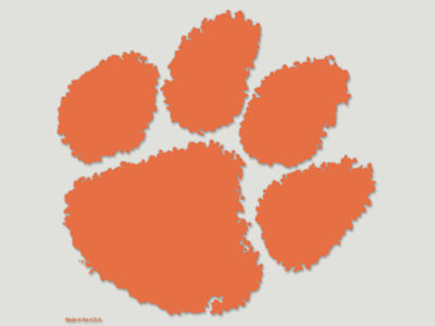 Clemson Tigers Die Cut Color Decal 8in X 8in