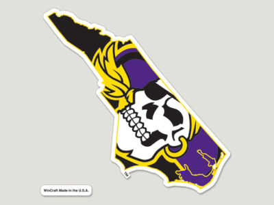 East Carolina Pirates Die Cut Color Decal 8in X 8in