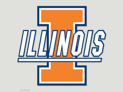 Illinois Fighting Illini Die Cut Color Decal 8in X 8in