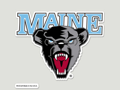 Maine Black Bears Die Cut Color Decal 8in X 8in