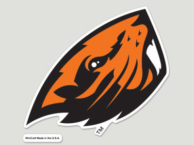 Oregon State Beavers Die Cut Color Decal 8in X 8in