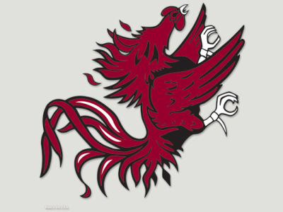 South Carolina Gamecocks Die Cut Color Decal 8in X 8in