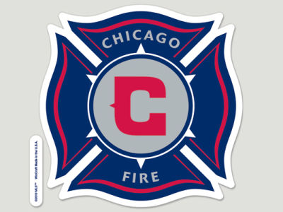 Chicago Fire Die Cut Color Decal 8in X 8in
