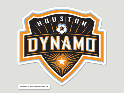Houston Dynamo Die Cut Color Decal 8in X 8in
