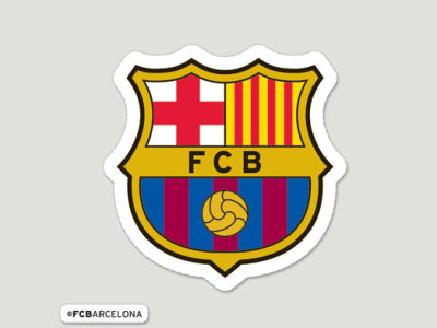 FC Barcelona Wincraft Die Cut Color Decal 8in X 8in