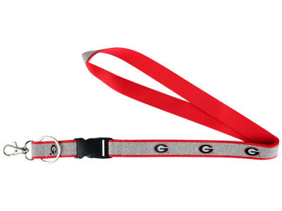 Georgia Bulldogs Sparkle Lanyard-Aminco