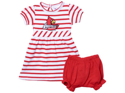 Louisville Cardinals NCAA Newborn Stripe Dress