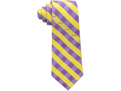 Los Angeles Lakers Polyester Checked Tie