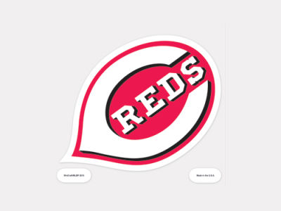 Cincinnati Reds 4x4 Die Cut Decal Color