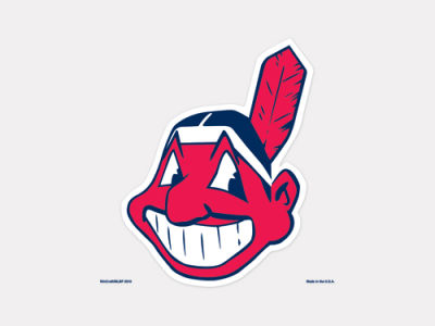 Cleveland Indians 4x4 Die Cut Decal Color