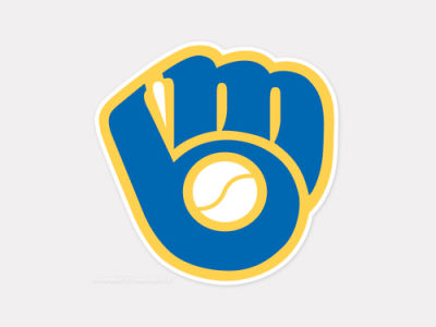 Milwaukee Brewers 4x4 Die Cut Decal Color