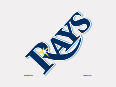 Tampa Bay Rays 4x4 Die Cut Decal Color