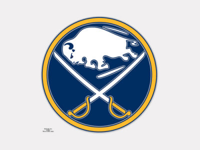 Buffalo Sabres 4x4 Die Cut Decal Color