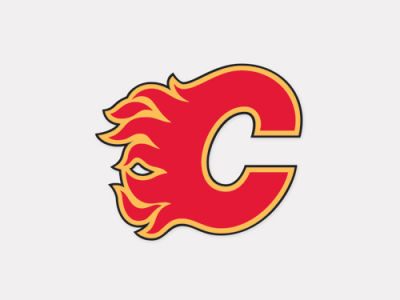 Calgary Flames 4x4 Die Cut Decal Color