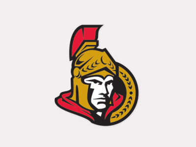 Ottawa Senators 4x4 Die Cut Decal Color