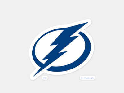 Tampa Bay Lightning 4x4 Die Cut Decal Color
