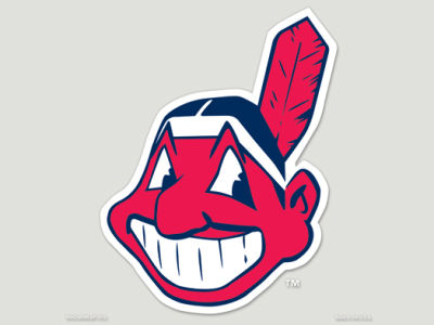 Cleveland Indians Die Cut Color Decal 8in X 8in