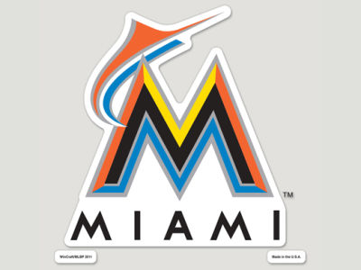 Miami Marlins Die Cut Color Decal 8in X 8in