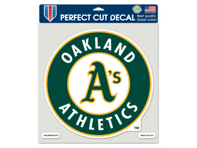 Oakland Athletics Die Cut Color Decal 8in X 8in