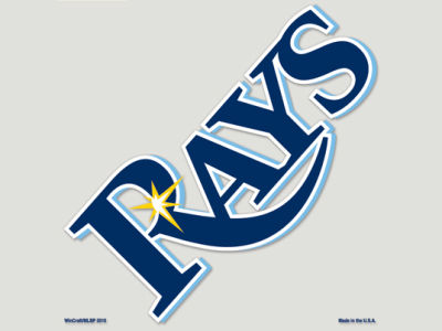 Tampa Bay Rays Die Cut Color Decal 8in X 8in