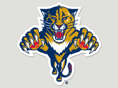 Florida Panthers Die Cut Color Decal 8in X 8in