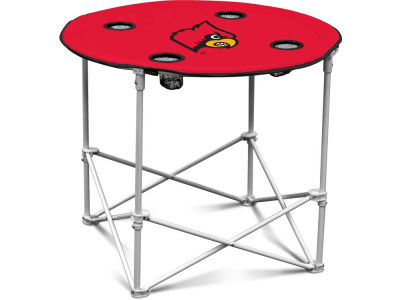 Louisville Cardinals Logo Brands Round Folding Table