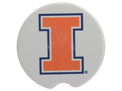 Illinois Fighting Illini 2 Pack Car Coasters
