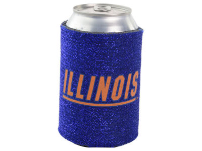 Illinois Fighting Illini Glitter Can Coozie
