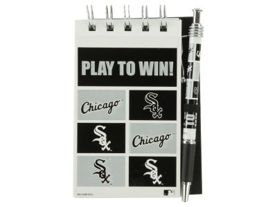 Chicago White Sox 3x5 Flip Spiral Notebook Pen Set