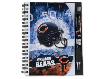 Chicago Bears 5x7 Spiral Notebook And Pen Set