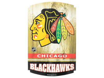 Chicago Blackhawks 11x17 Wood Sign