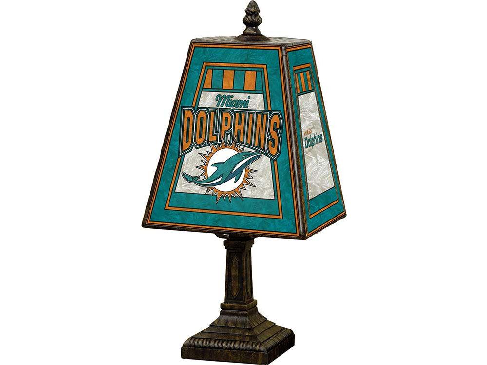 Miami dolphins art glass table lamp lids miami dolphins art glass table lamp voltagebd Gallery