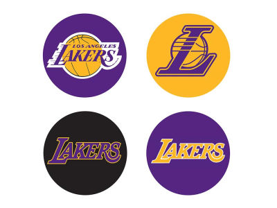 Los Angeles Lakers Apple Home Button Covers 4 Pack